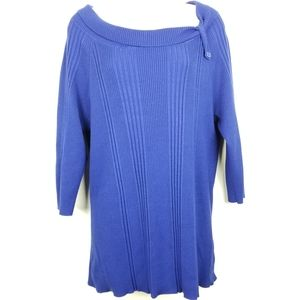 JMS Sweater Ribbed Knit Collar Accent Sz 2X